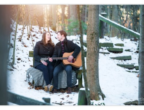 Squire's Castle Winter Engagement Session in Cleveland | Eric & Taylor
